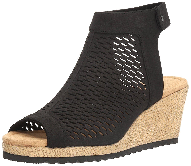 6002b7249f6 Skechers Cali Women s Monarchs Blue Nights Wedge Sandal. Laser cut quarter  strap sandal with memory foam. Women s Shoes