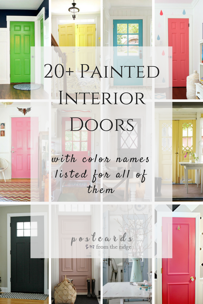 gorgeous painted interior doors that aren't white  pinterest .  great paint colors for your interior doors if you're bored with white orblack brands include benjamin moore sherwin williams behr valspar andmore