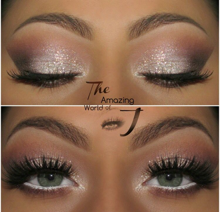 Shimmering eyeshadow | Bridal makeup for blue eyes, Prom ...