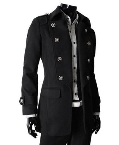 I found 'Classic Men's Two-way Wearing Double Breasted Wind Coat Black' on Wish, check it out!