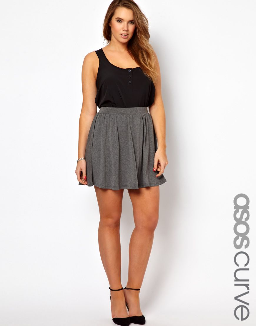 Asos curve skater skirt plus size fashion pinterest asos