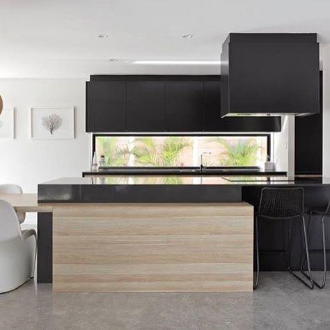 Another beautiful combination of @caesarstoneau and Polytec . The Raven benchtops from @caesarstoneau work perfectly with the feature of Polytec Natual Oak.  #polytec #caesarstone #naturaloak #interiordesign #kitcheninspo #kitchendesign #designinspo #scandustrial