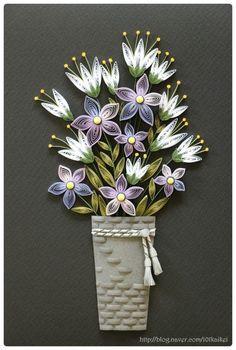 Paper Quilling Flower Vase Designs Valoblogi Com
