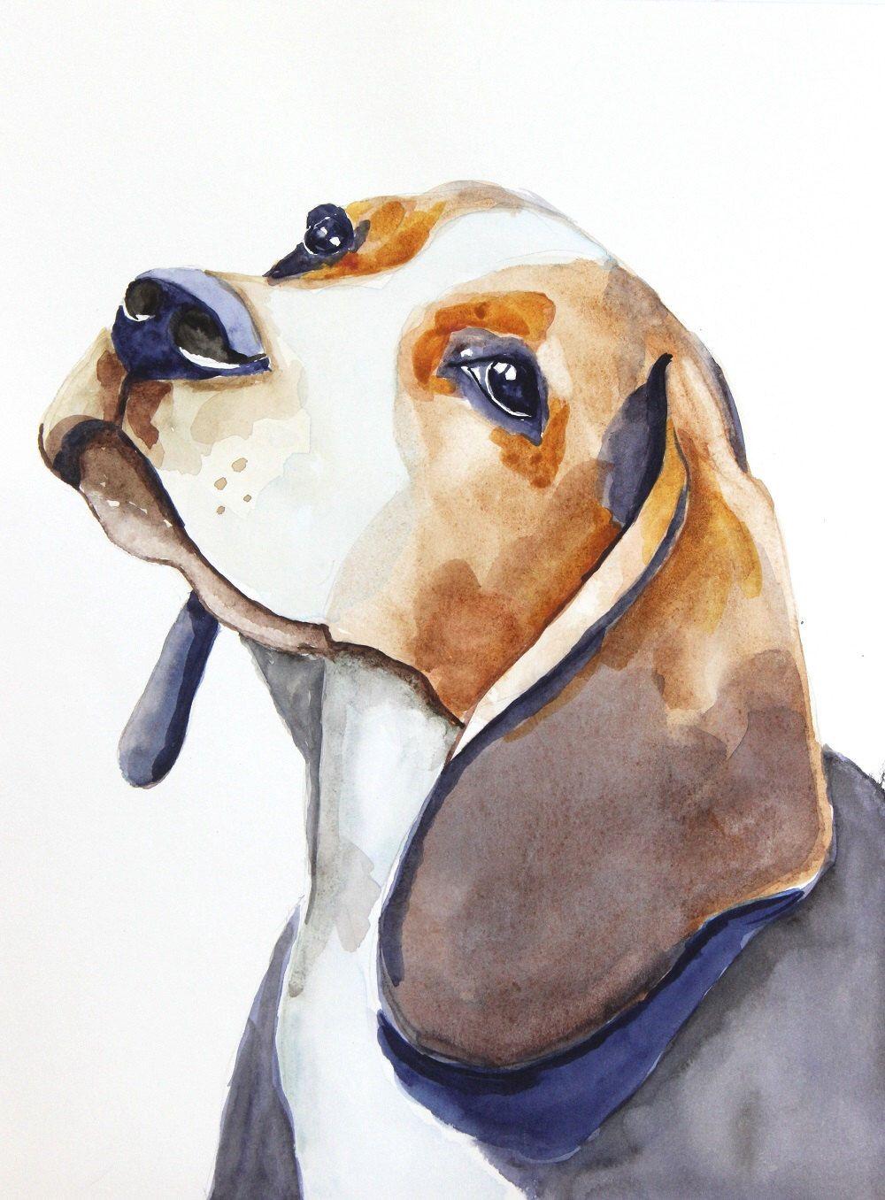 Beagle Watercolor Clipart Dog Watercolor Print Printing At Home