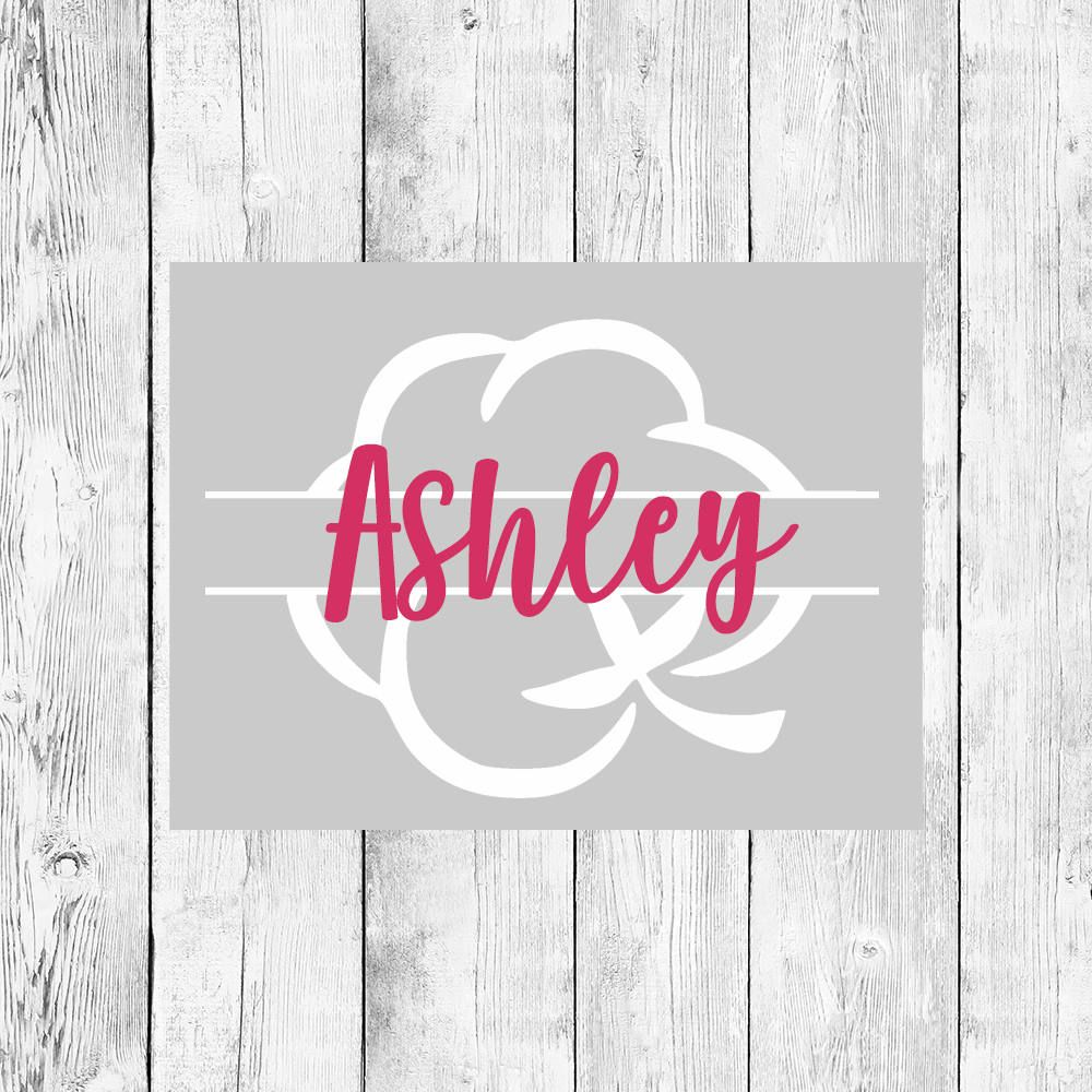 Cotton monogram monogram decal cotton decal vinyl decal personalized decal custom sticker yeti decal car decal phone decal southern by