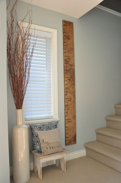 Stained Wood Ruler Growth Chart Up To 65 Feet Made In Canada