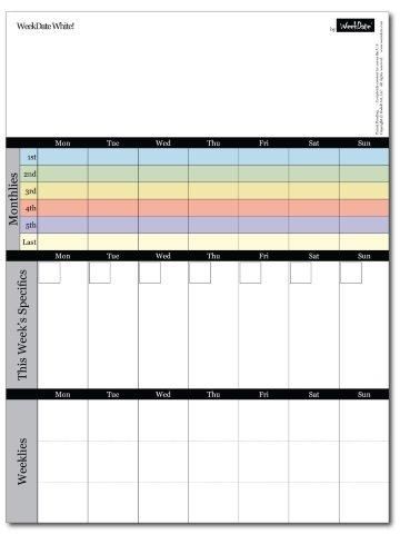What A Whiteboard Why Not Calendar Organization Weekly