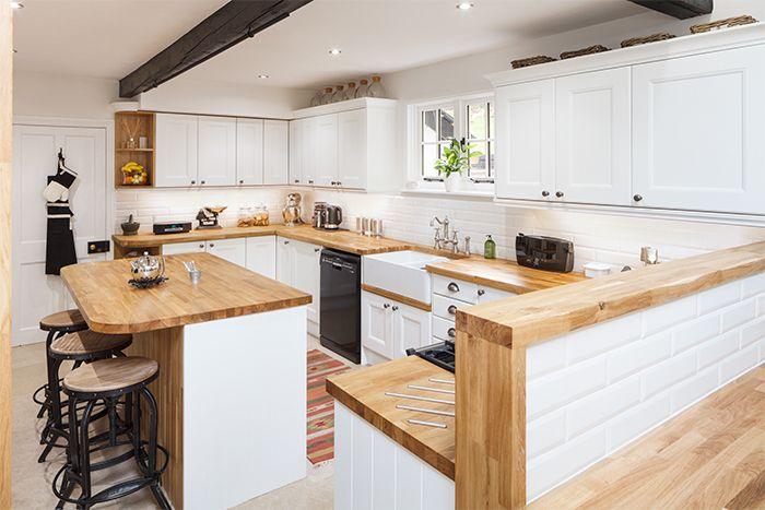 Cucina bianca e rovere: 15 idee luminose per ispirarvi...   Idee ...