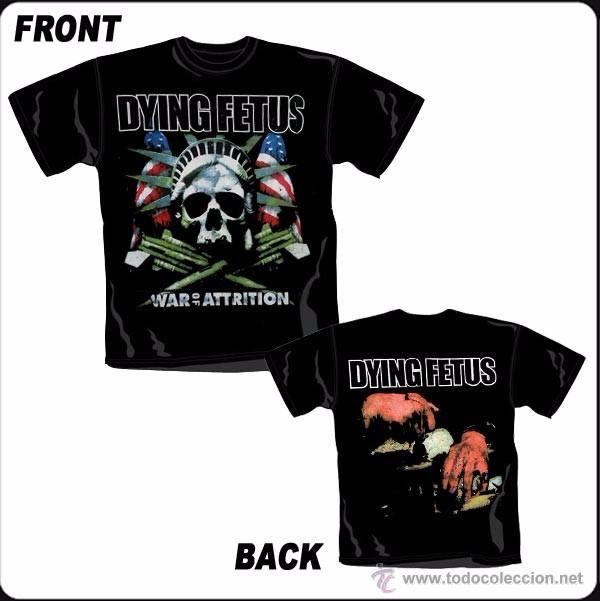 Camiseta de chico M/C Dying Fetus - War Of Attrition - Talla L