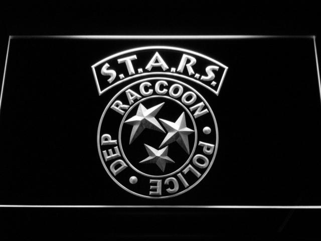 Resident Evil Stars Led Neon Sign Resident Evil Personagens 1