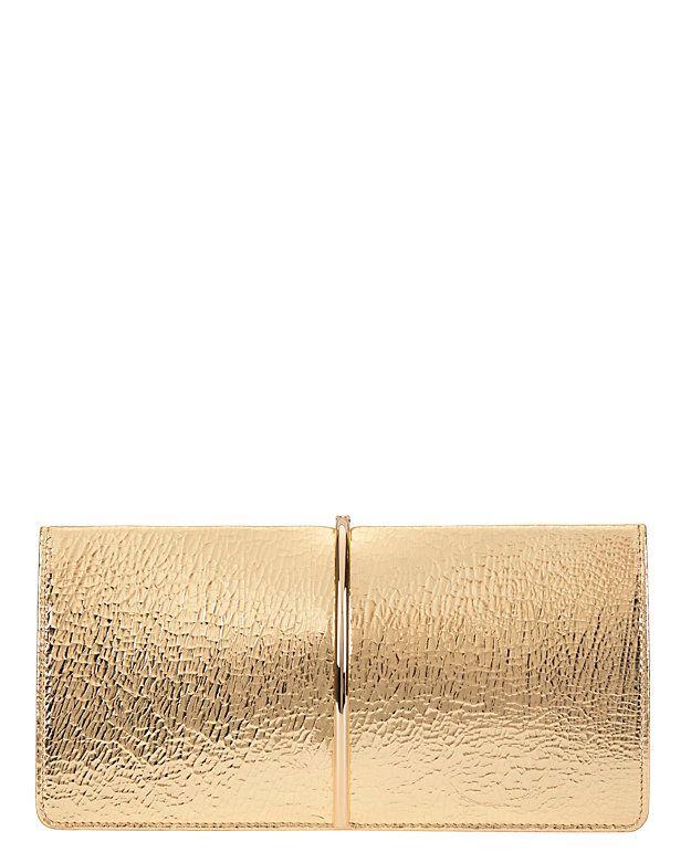 Nina Ricci gold clutch