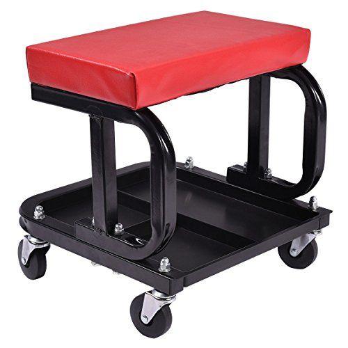 rolling creeper seat mechanic stool chair repair tools tray shop auto car garage http