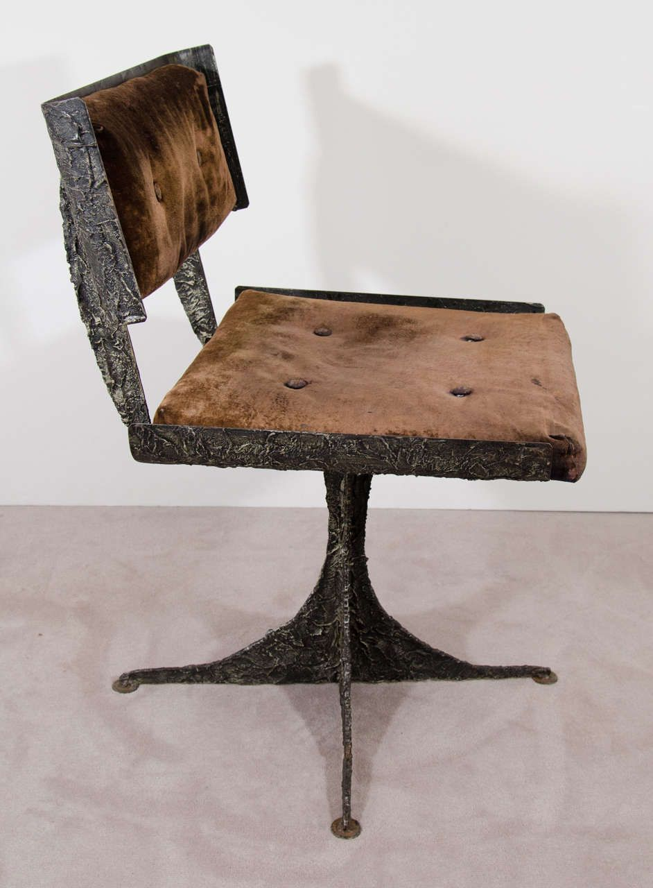 Brutalist Rare Sculpted Paul Evans Chair Image 6