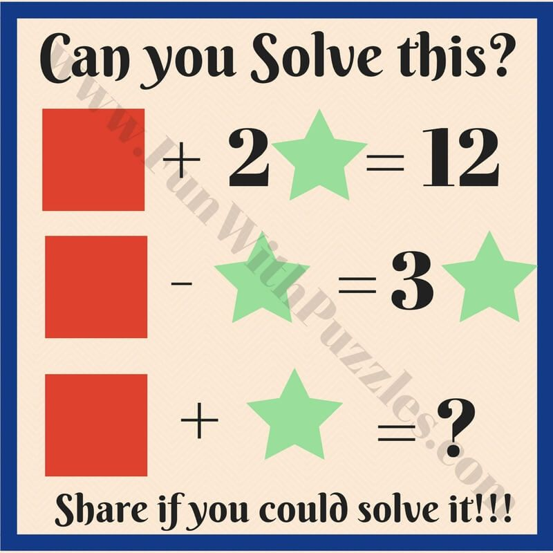 Kids Math Equations Riddles with Answers | Math equations, Equation ...