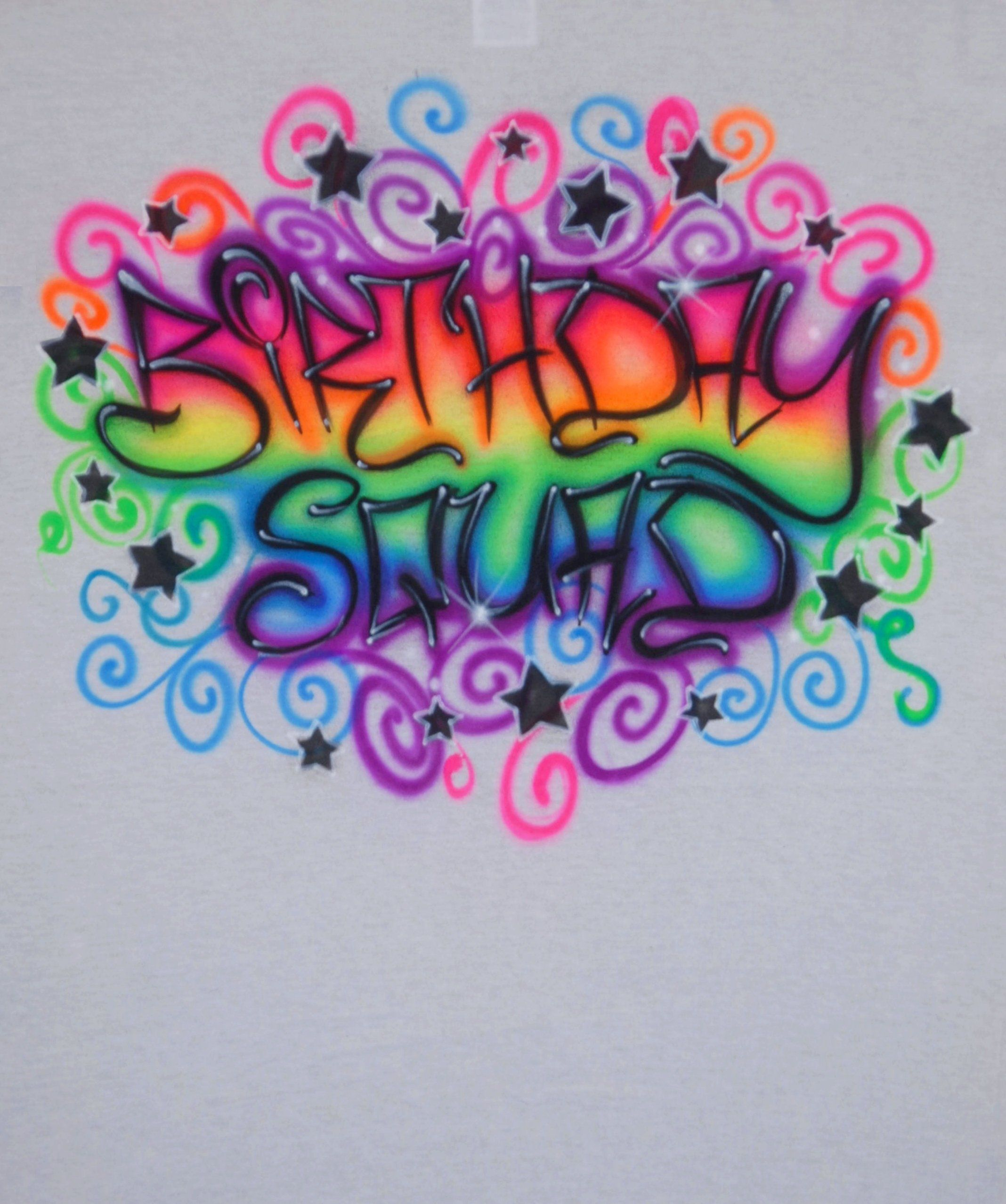 76b36ab1 Excited to share the latest addition to my #etsy shop: Airbrushed Birthday  Squad Rainbow