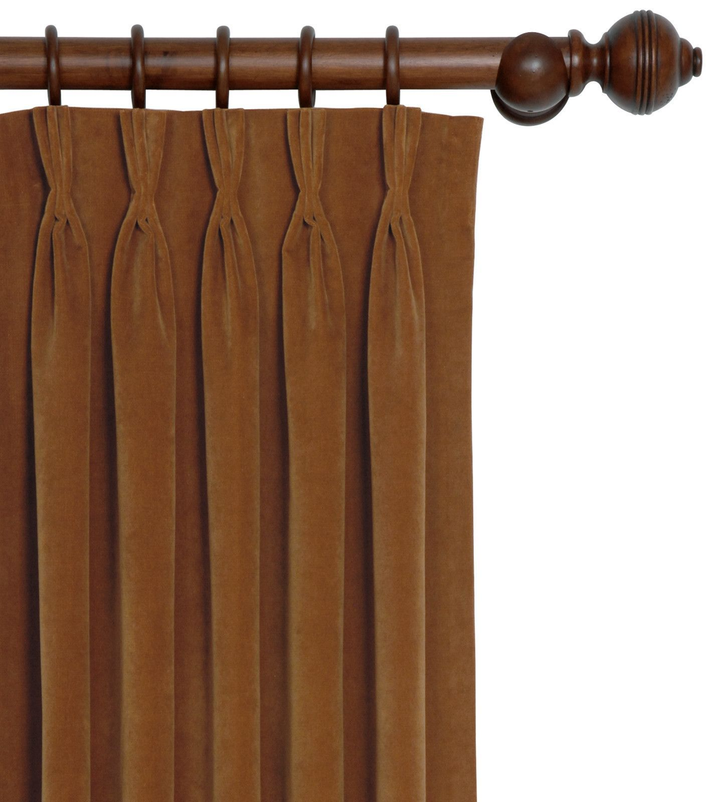 Eastern Accents Jackson Rust Pinch Pleat Curtain Panel (Dw)