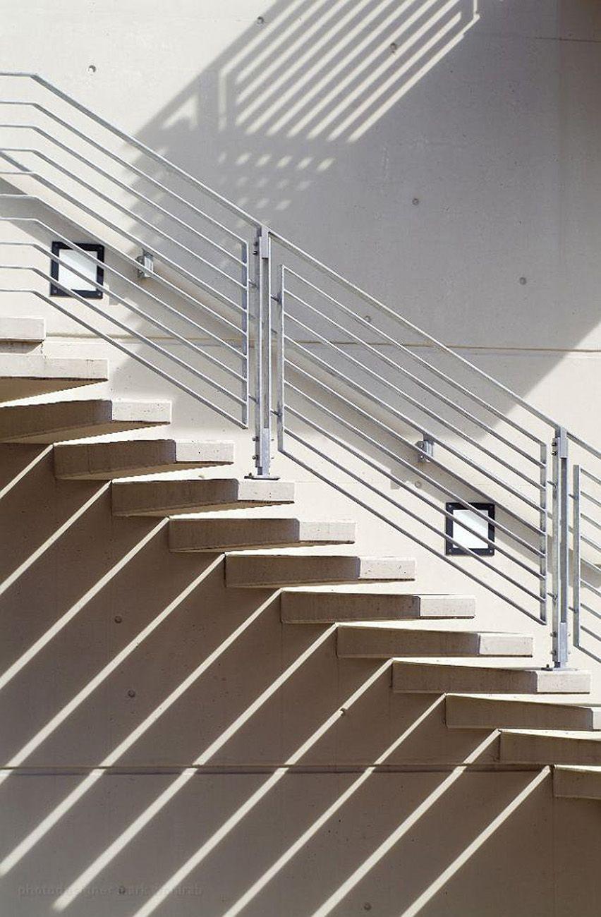 Hängele Treppenhaus außentreppe beton architekturfoto wohlrab treppen