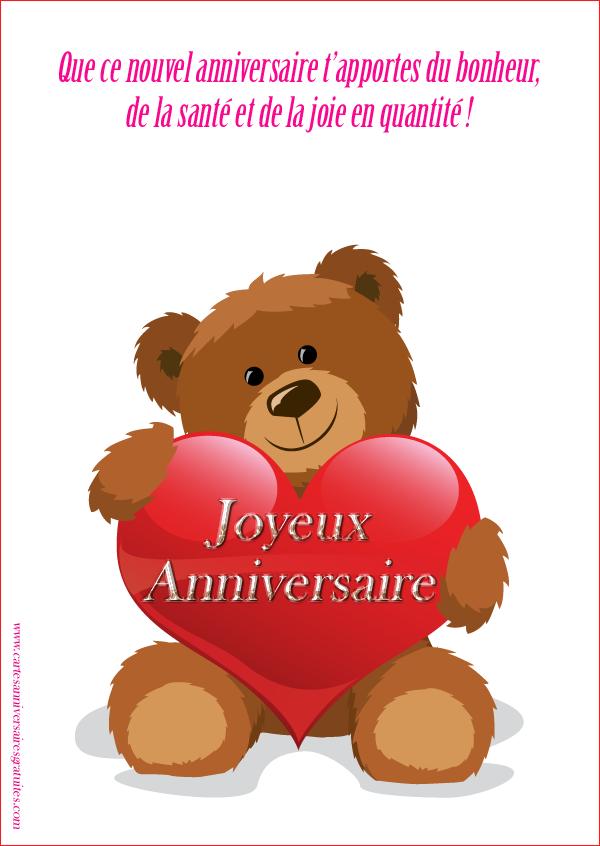 Ours En Peluche Et Ballons Carte Anniversaire A Imprimer Gratuite 123cartes Carte Joyeux Anniversaire Photo Joyeux Anniversaire Image Joyeux Anniversaire