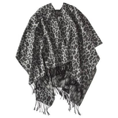 Merona Black Leopard Ruana