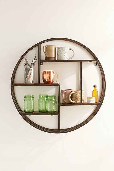 Wooden Circle Wall Shelf