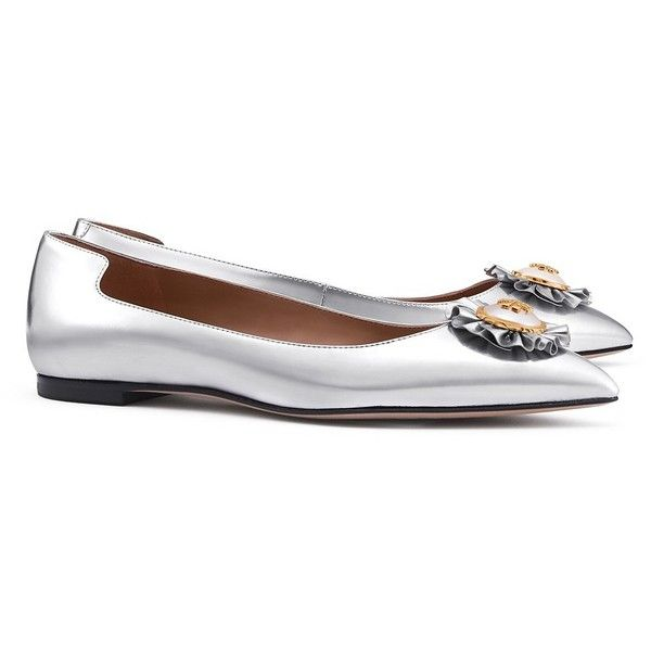 where to buy cheap real cheap collections Tory Burch Embellished Metallic Flats 42QXiu3dEh