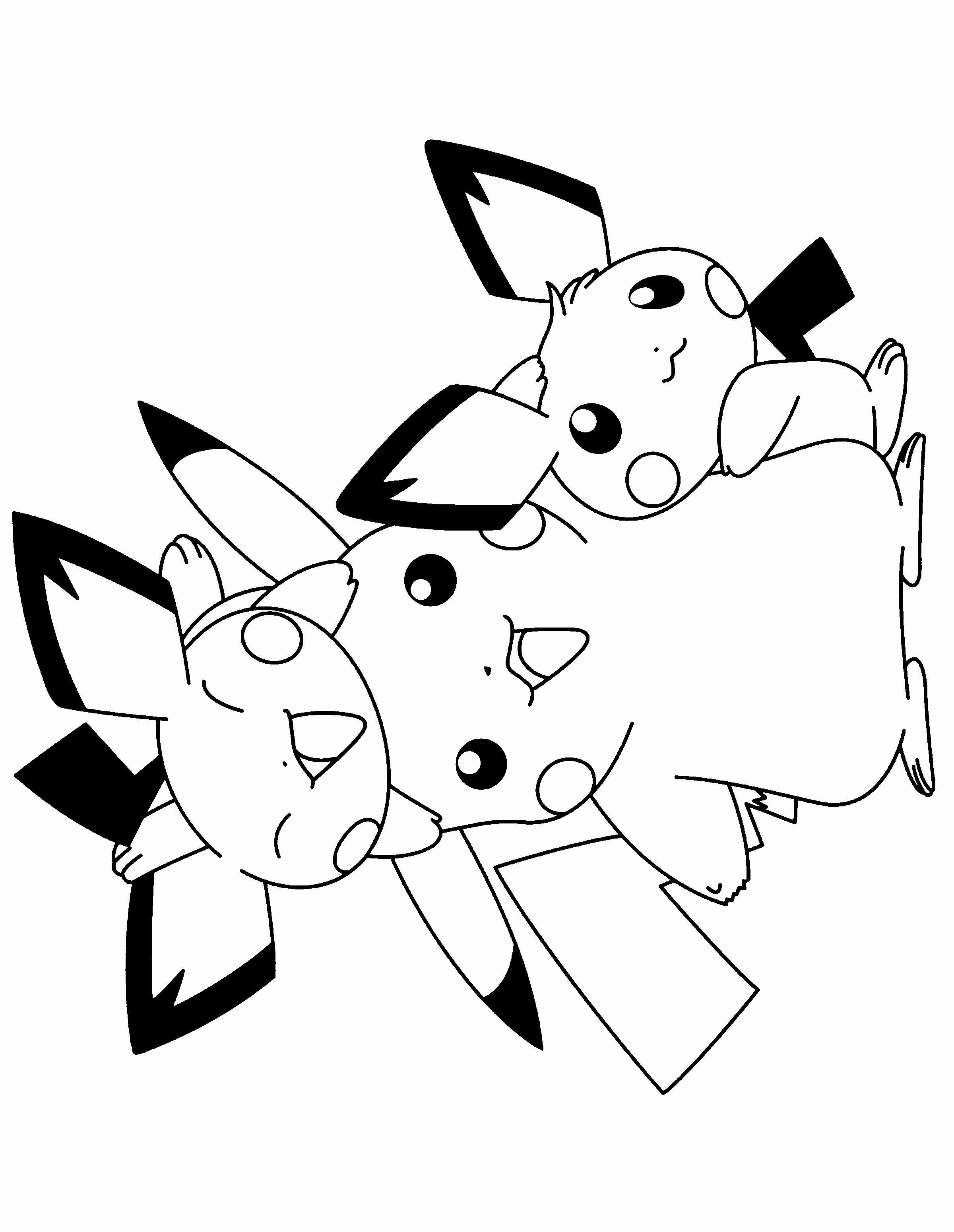 coloring page best of pikachu and pichu