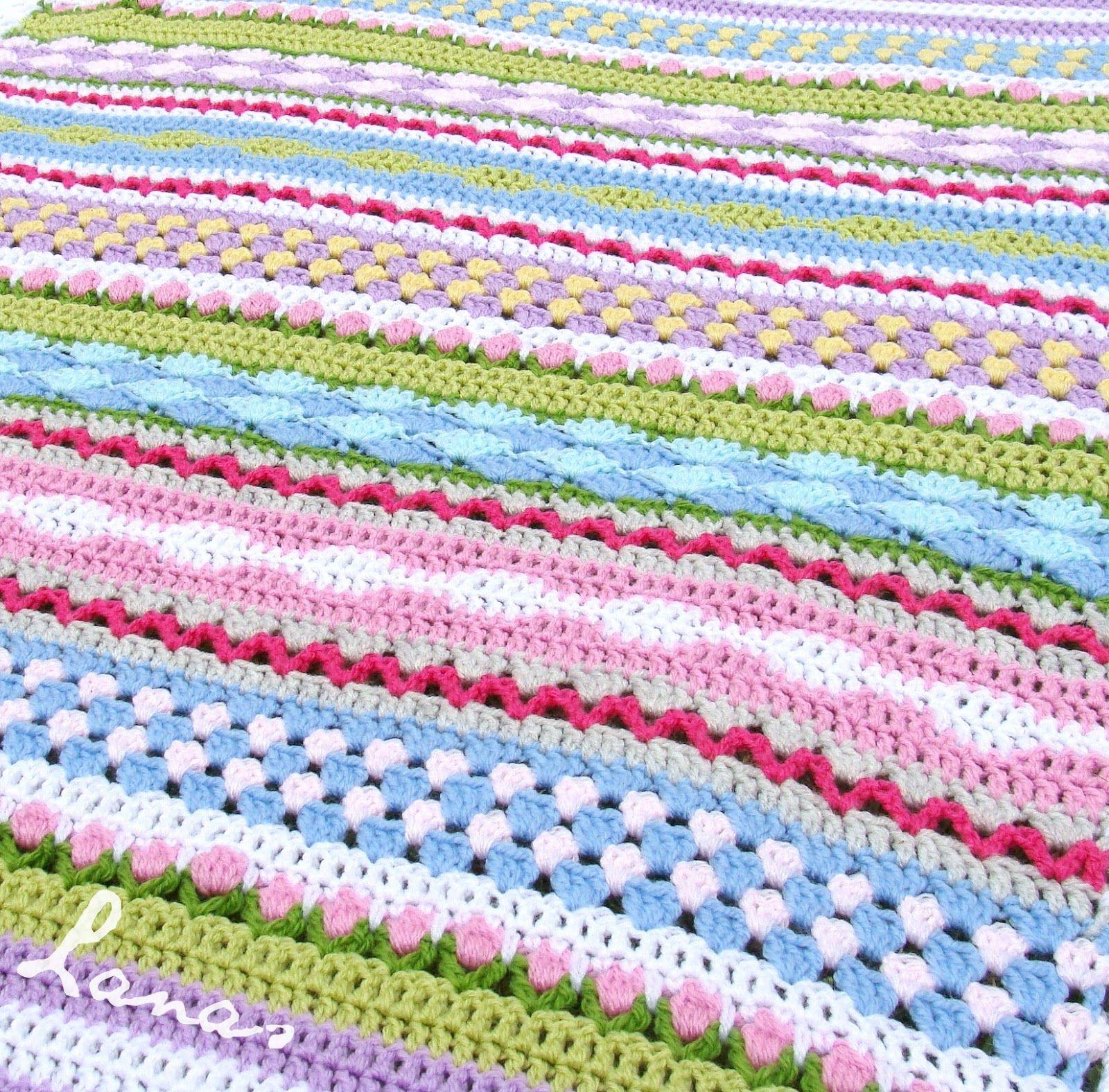 Lanas de Ana: Fantasy Blanket: Construction (VII) | Knitting ...