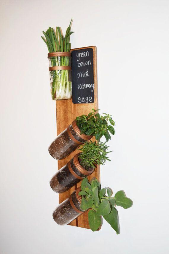 free shipping vertical garden indoor herb garden by on indoor herb garden diy wall mason jars id=39234