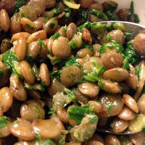 Lentils, spinach and herb salad recipe snapshot