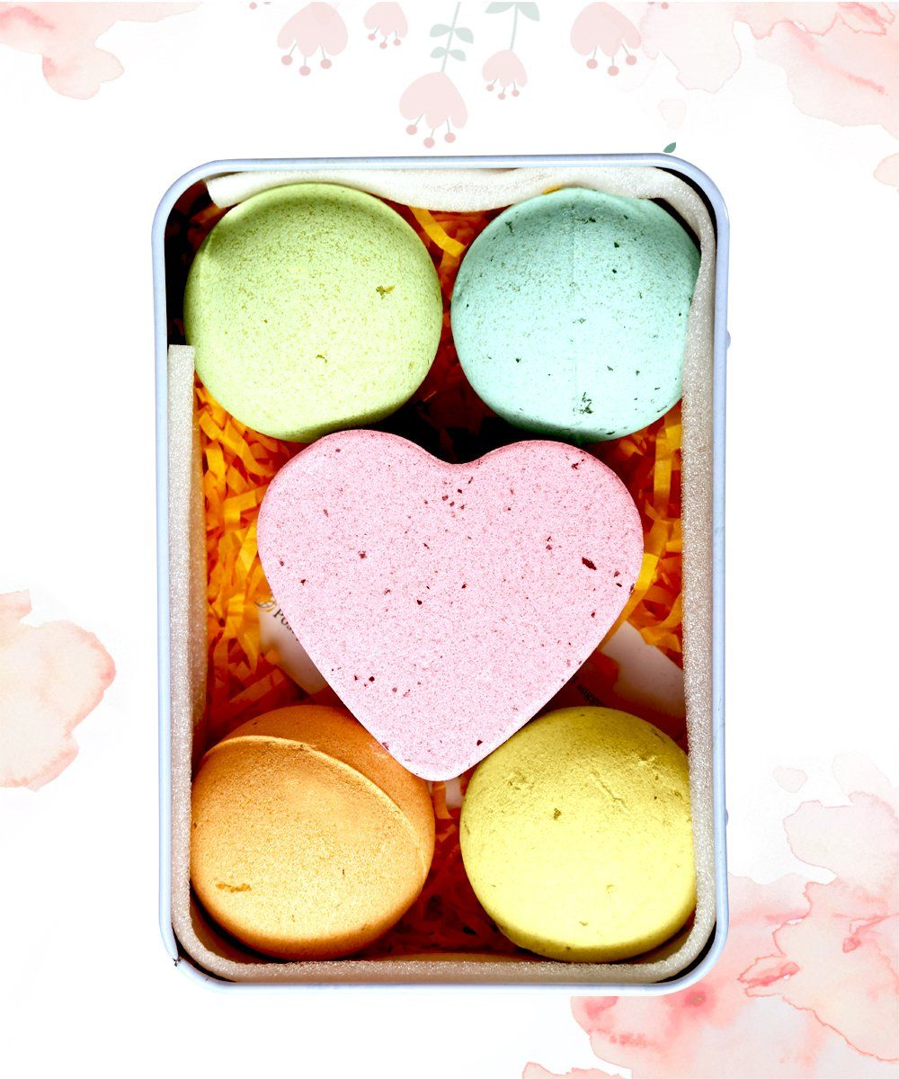Bath Bombs Gift Set All Natural Essential Oil Lush Spa Fizzies For