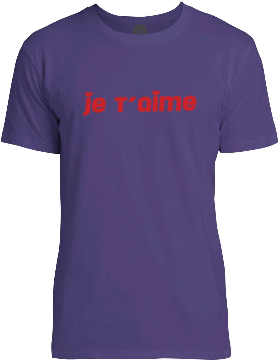 Je Taime (Red) Mens Fine Jersey T-Shirt