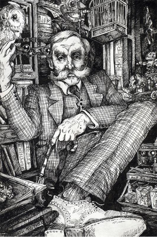 Dip pen and black Ink Illustrations - Philip Harris Illustration