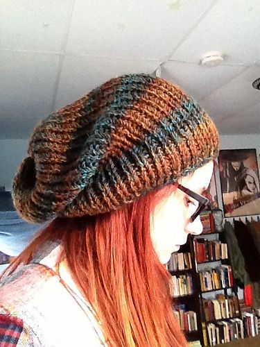 26ffc63ea32 Ravelry  The Perfect Knit Slouch Hat pattern by Carrissa Knox