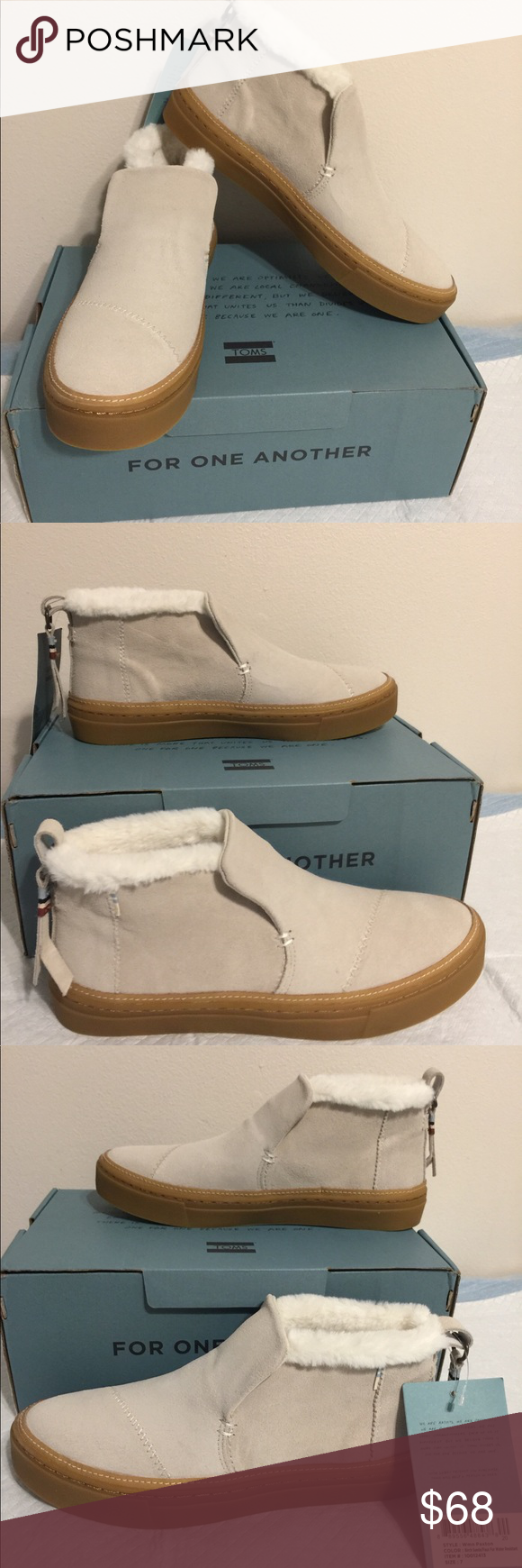 New Birch 7 With Suede Box Shoes Toms Suedefaux Paxton Oknw8P0