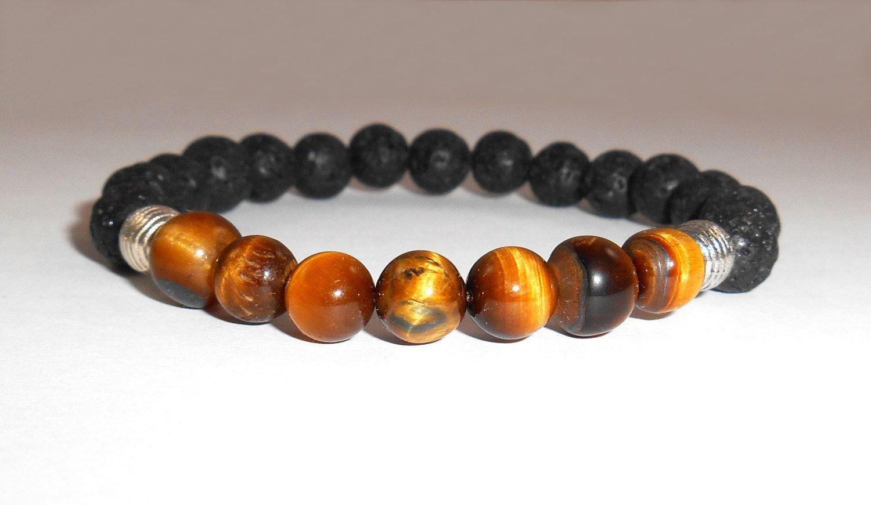 Mens Bracelet Black Bracelet Tiger Eye Bracelet Yoga Jewelry Mens Gift Mens Jewelry Energy Bracelet Healing Jewelry Gemstone Bracelet Men's de Mainashiki en Etsy