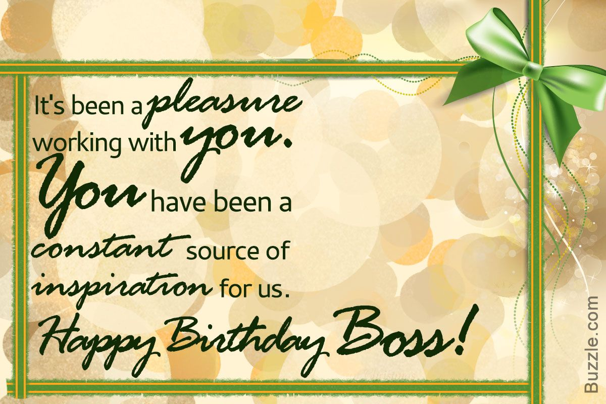 Birthday Wishes For Your Boss To Make Him Feel Happy And Respected