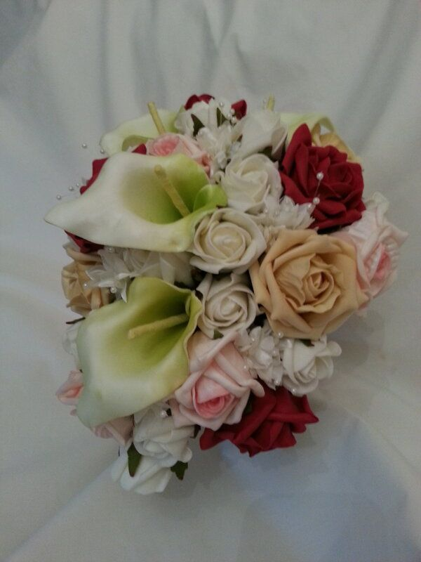 Our Teardrop Bridal Bouquet in Autumnal colours. Soft, subtle and beautiful.