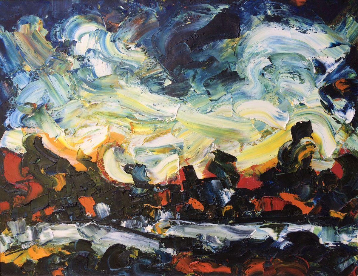 German Expressionism painting s'hertogenbosch Hubert Roestenburg ...