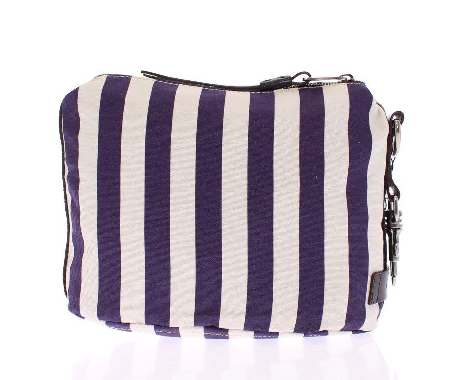 Dolce   Gabbana Purple striped canvas toiletry bag  831434cdd68bb