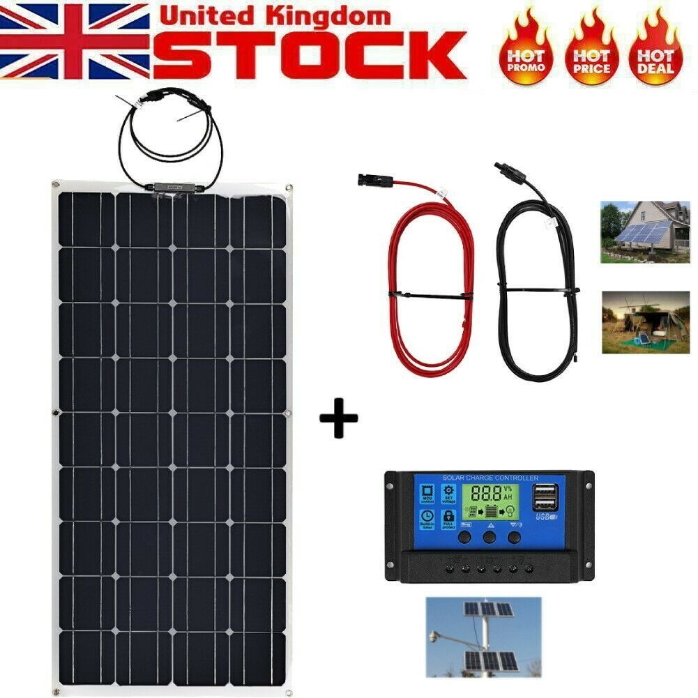 100w Solar Panel Kit In 2020 Solar Panels Solar Panel Kits Flexible Solar Panels