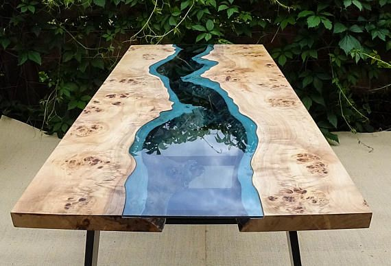 live edge river table with epoxy resin table pinterest epoxy resin and rivers. Black Bedroom Furniture Sets. Home Design Ideas