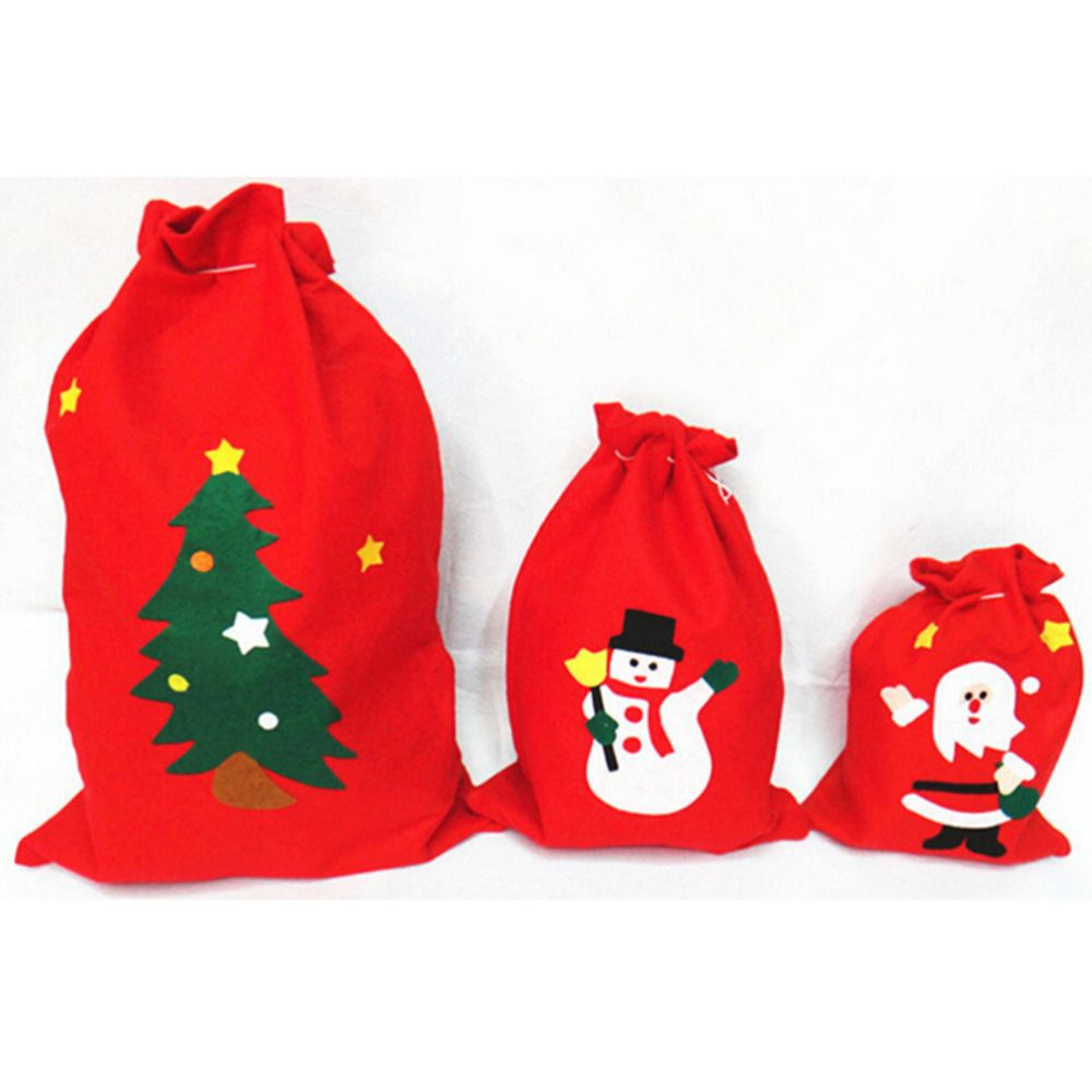 dd34fceb461f Creative Christmas Tree Pattern Santa Claus Candy Bag Handbag Home Party  Decoration Gift Bag Christmas Supplie