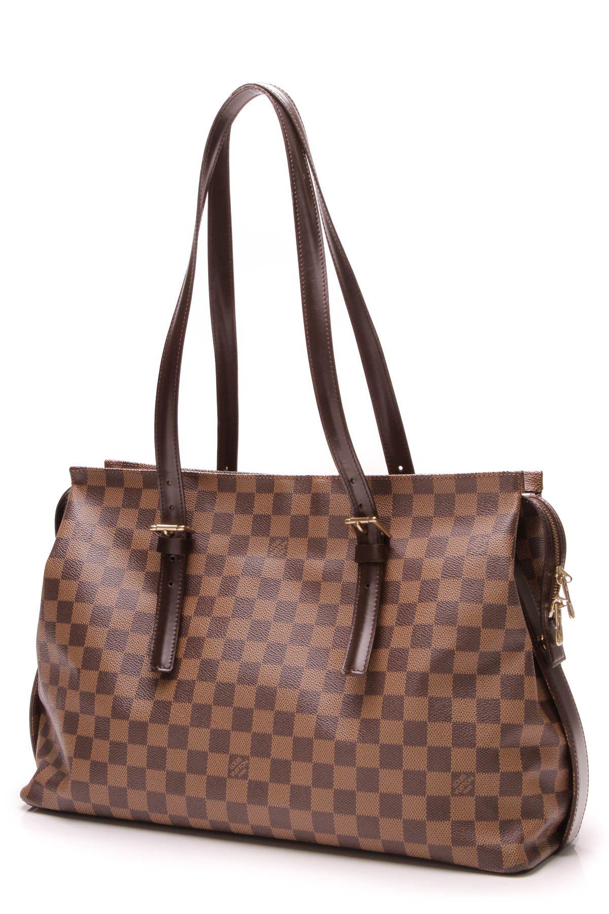 99ffc7815e9e8 Louis Vuitton Vintage Chelsea Tote Bag - Damier Ebene