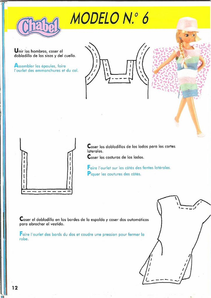 Junto con la màquina de coser de Chabel venia una revista con ...