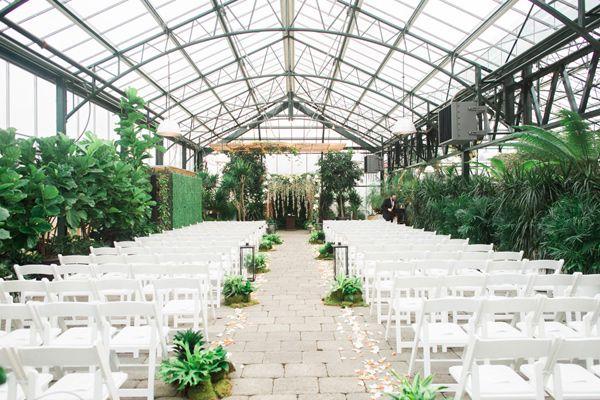 Botanical Garden Wedding With Glass Ceilings Greenhouse Wedding Botanical Gardens Wedding Botanical Wedding