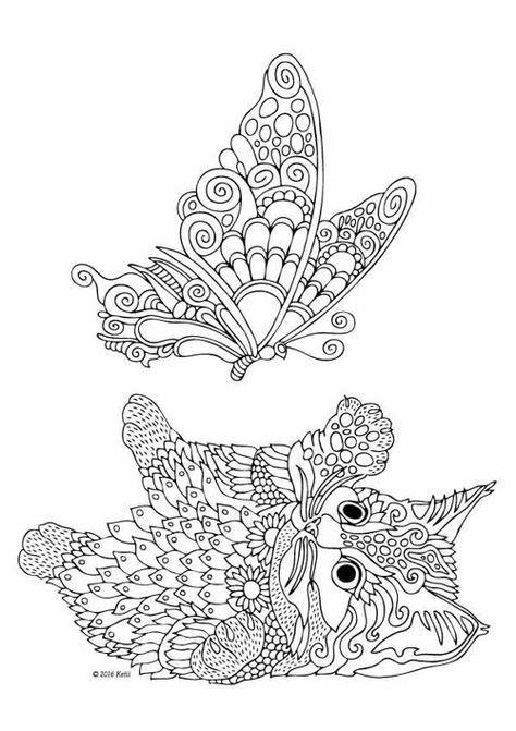 Coloriage Mandala Animaux Oiseaux - Coloriage Tigre Mandala