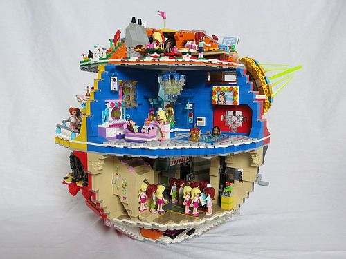 LEGO Death Star remake in the Friends theme