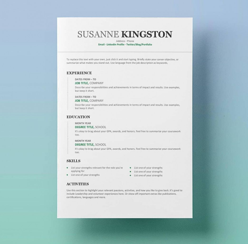 Free Chronological Resume Templates Microsoft Word Resume For Free B In 2020 Free Printable Resume Templates Microsoft Word Resume Template Free Resume Template Word Chronological resume template microsoft word