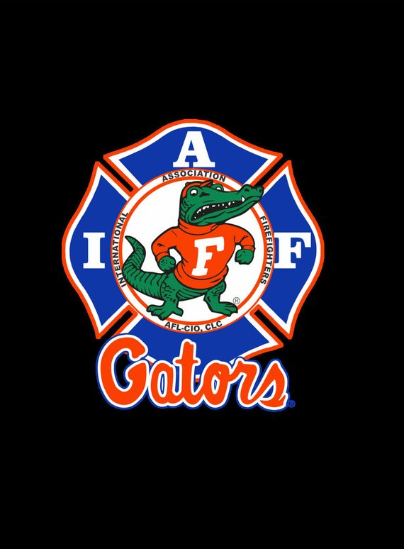 IAFF Florida Gators Car Decal for Union Firefighters - Free Shipping