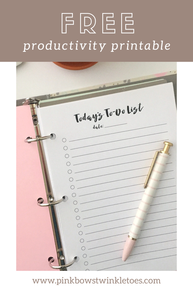 Daily To-Do List: Free Productivity Printable | Stay Sweet ...